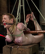 Predicament bondage, electricity and orgasms