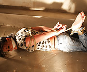 Spanish girl hogtied and cleave-gagged