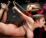 Sara is humiliated and suffers in hard bondage