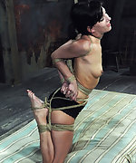 Roped, hogtied, forced to cum, trained with dildo