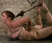 Bella caged, roped, hogtied and double teamed